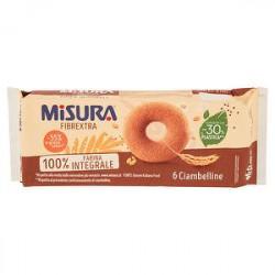 Ciambelline integrali Fibrextra MISURA 230gr conf. da 6 pezzi