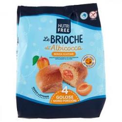 Brioche NUTRIFREE senza glutine all'albicocca 200gr conf. da 4 pezzi