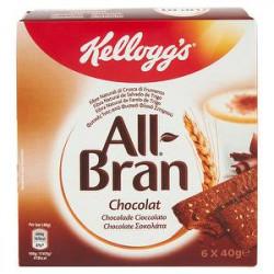 Barretta All Bran cioccolato KELLOGG'S 240gr conf. da 6 pezzi