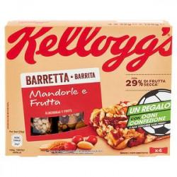 Barretta KELLOGG'S mandorle e frutta 128gr conf. da 4 pezzi