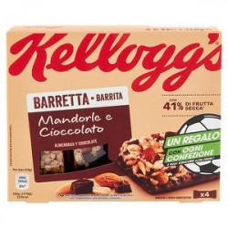 Barretta KELLOGG'S mandorle e cioccolato 128gr conf. da 4 pezzi