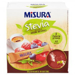 Dolcificante Stevia MISURA 60gr conf. da 40 bustine
