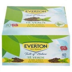 Tè Verde earl grey EVERTON deteinato 56gr conf. da 40 filtri