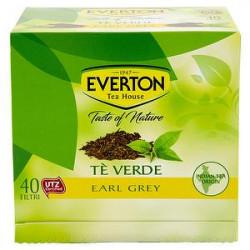 Tè verde EVERTON earl grey 68gr conf. da 40 filtri