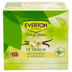 Tè verde EVERTON gelsomino e vaniglia 52gr conf. da 40 filtri