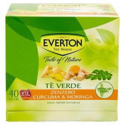 Tè verde EVERTON zenzero curcuma & moringa 52gr conf. da 40 filtri
