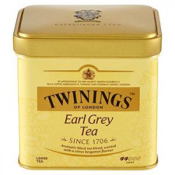 Thè TWININGS earl grey lattina da 100gr